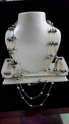 Grey Shell pearl set