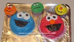 Homemade Sesame Street Cake: This Sesame Street cake was for my daughter's 2nd birthday. She loved it! I took ideas from a few other cakes on this website and kind of combined them