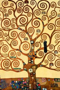 The Tree of Life, Stoclet Frieze, c.1909 Gustav Klimt (1 of my FAVE Klimt works, but I love MANY he did in this time era.)