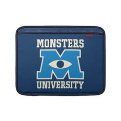 Monsters University Blue Logo Sleeve For MacBook Air