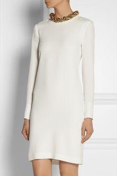 Adam Lippes|Chain-embellished silk-georgette dress|