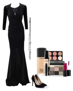 """""""Concert"""" by berryco ❤ liked on Polyvore featuring Blumarine, WearAll, JustFab, BERRICLE, MAC Cosmetics, Bobbi Brown Cosmetics, concert, band, flute and plus size clothing"""