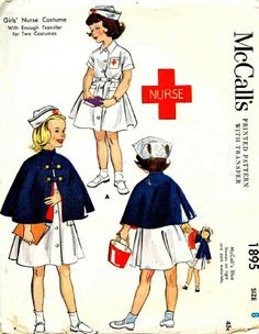 McCall's nursing uniform patterns for children