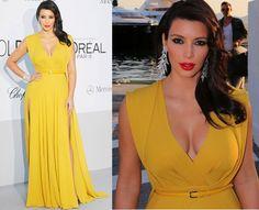 Vestito giallo oro blu e nero