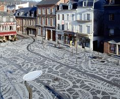 Lace patterned paving by ElisabethBallet in PortAudemer, France
