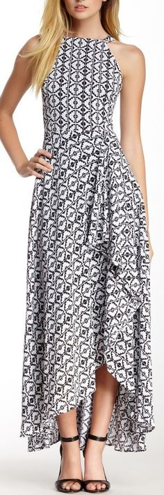 geo print dress - love the shape!