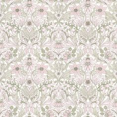 Boråstapeter Graceful Living Damask Wallpaper, Home Wallpaper, Pattern Wallpaper, Wallpaper Ideas, Vintage Country, William Morris, Floral Watercolor, Decoration, Wall Decals
