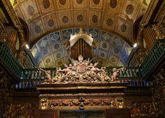 Mosteiro de São Bento - Rio de Janeiro. Detalhe Corta Vento e Órgão