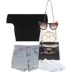 Untitled #3092 by lily-tubman on Polyvore featuring Michael Kors, adidas, Balenciaga, Forever 21, 3.1 Phillip Lim and Levi's