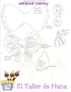 Plantilla mariposa
