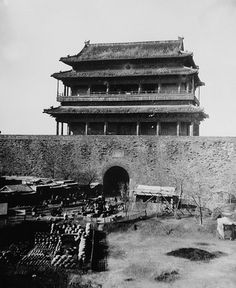 Ammunition piled in front of the Forbidden City in Beijing, China. The Qing Dynasty was caught off-guard by the Boxer Rebellion, and did not immediately know how to react. Initially, the Empress Dowager Cixi moved almost reflexively to suppress the rebellion. However, she soon realized that the ordinary people of China might be able to drive the foreigners out of her realm. In Jan 1900, Cixi issued a royal edict in support of the Boxers.