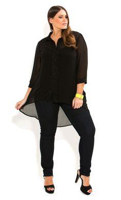 6a0f50ad6f426 City Chic - SURPRISE BOW BACK SHIRT - Women s plus size fashion Plus Size  Chic