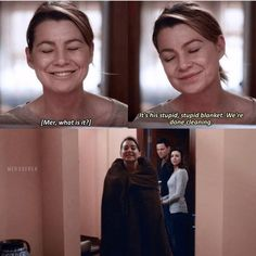 His stupid, stupid blanket❤️ Greys Anatomy Episodes, Greys Anatomy Funny, Grays Anatomy Tv, Greys Anatomy Characters, Grey Anatomy Quotes, Private Practice, Tv Show Quotes, Movie Quotes, Meredith And Derek