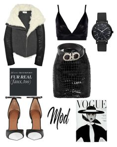 """Monochrome Masterpiece"" by nevedrumm on Polyvore featuring Yves Saint Laurent, Boohoo, Salvatore Ferragamo and Givenchy"