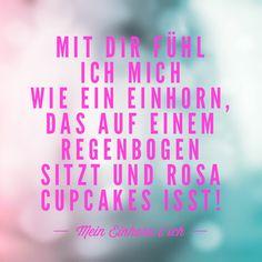 Freundschaft, Liebe, Einhorn, Regenbogen, Cupcakes, rosa.