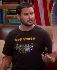 """Wil Wheaton's """"The Guild"""" tshirt on The Big Bang Theory.  Outfit Details: http://wornontv.net/6739/ #TheBigBangTheory"""