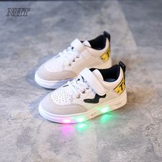 832b1167b67020 Find More Sneakers Information about best children lighted shoes for kids  led flashing non charge battery
