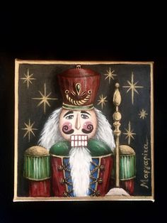 #nutcracker #painting #art #artwork #artpainting #christmas #christmasgifts #christmascrafts #acrylicpainting #ideas #decor #red #green #black #gold Acrylic Painting Canvas, Painting Art, Watercolor Paintings, Christmas Crafts, Xmas, Red Green, Black Gold, My Arts, Crafty