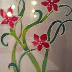 Silk painting Silk Painting, Arts And Crafts, Hand Painted, Ideas, Needlepoint, Paintings Of Flowers, Craft Items, Art And Craft, Crafts