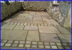 using smaller squares to separate bits of the garden