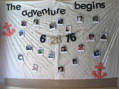 Photo Booth backdrop- Engagement Party, travel/ nautical theme #nautical #engagement #party