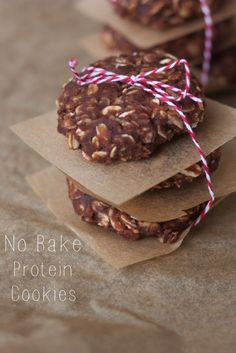 Chocolate Peanut Butter Protein No Bake Cookies (vegan & gluten-free)