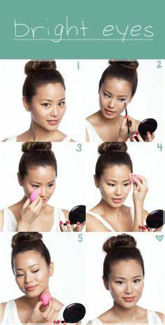 maquillage asiatique pour yeux bridés. comment bien maquiller ses yeux en amande