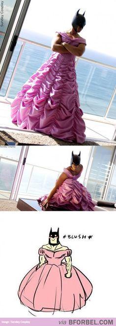 Even Batman Has An Inner Princess…  !!!!