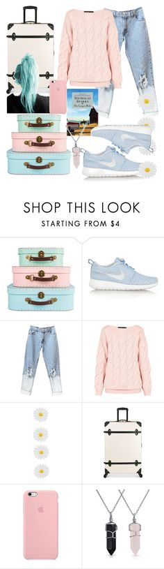 """""""ON THE WAY TO VACA!!! #travel #airplane"""" by hannancat ❤ liked on Polyvore featuring NIKE, AV London, Monsoon, Diane Von Furstenberg and Bling Jewelry"""