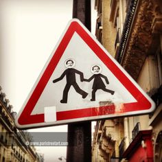 Road sign's street art and other plate's stickers - Street Art Paris