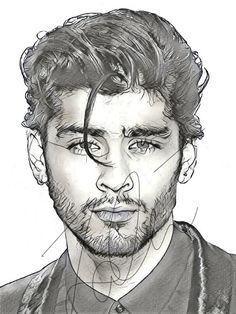 This is a print of a drawing I've done of Zayn Malik, this is a great gift for a friend or family and would look beautiful framed or used as wall art. Human Figure Drawing, Guy Drawing, Drawing Sketches, Art Drawings, Drawing Tips, Sketching, One Direction Drawings, One Direction Art, Zayn Malik Drawing