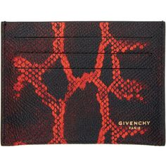 Givenchy Black Python Card Holder ($325) ❤ liked on Polyvore featuring men's fashion, men's bags, men's wallets, black, mens card case wallet, mens card holder wallet and givenchy mens wallet
