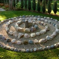 A simple stone and sand labyrinth....