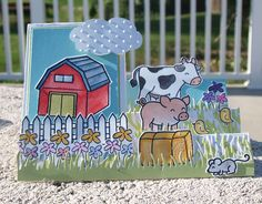 Fawn Lawn sets: Critters on the Farm, Cruising Through Life. Adorable!