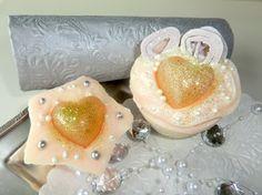 Golden hearts, cold prosess soap  alavendel.epla.no