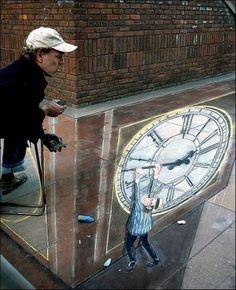 Street art 3D, optical illusion