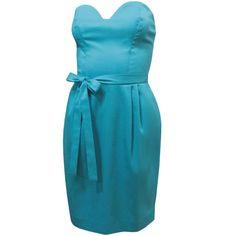 Vestido Tomara-que-caia de Decote Coração Azul Jade - LANÇAMENTO! - luiza pannunzio
