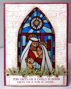 Stampin Up Gentle Peace Stained Glass Church Window, by Leah Gagum www.LeahsCards.com