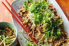 Sichuan-style liang mian - cold noodle salad Sous Vide Vegetables, Noodle Salad, Noodle Dish, Cold Noodles, Great British Chefs, Midweek Meals, Food Website, Food Shows, Easy Dinner Recipes