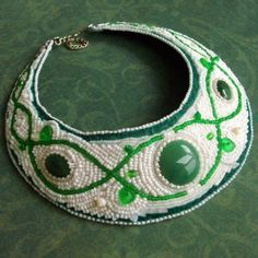 Very nice!     Snow Apple Bead Embroidered Necklace on EtsyLuxury by CircesHouse, $275.00