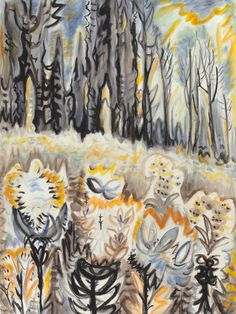 CHARLES BURCHFIELD Autumn Flowers (c.1955-60)