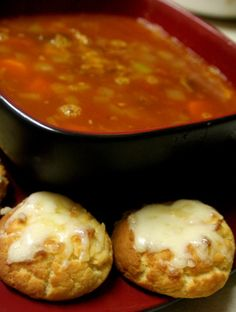 Beef Soup with Grain-Free Gluten-Free Coconut Flour Biscuits. But mainly for the biscuits! Coconut Flour Biscuits, Coconut Flour Recipes, Paleo Recipes, Low Carb Recipes, Real Food Recipes, Cooking Recipes, Coconut Oil, Paleo Biscuits, Paleo Meals
