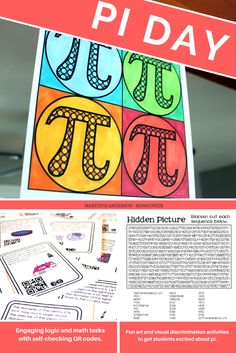 Pi Day activities for upper grades - hands-on fun, art projects, and circle math problems to celebrate this fun holiday. | Meredith Anderson Resources on Teachers pay Teachers