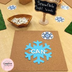 Snowflake Sight Words Literacy Center for Kindergarten Students