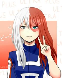 Todoroki shouto genderbender genderbend my hero academia bok Pelo Anime, Chica Anime Manga, Manga Girl, Otaku Anime, Anime Guys, Boku No Hero Academia Todoroki, My Hero Academia Manga, Todoroki Cosplay, Cosplay Girls