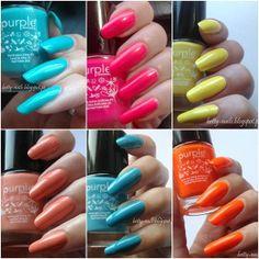 ♥の♥ Betty Nails: Purple Professional - Summer Collection- Swatches and Review - Part 2/3 - Neon/Bright Colors ( 64-69)