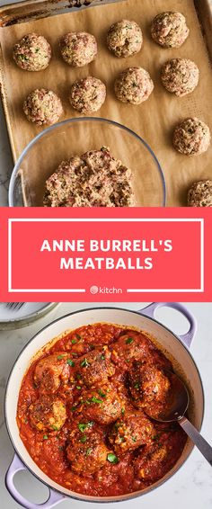 I Tried Anne Burrell's Perfect Meatball Recipe Meatball Recipes, Meat Recipes, Pasta Recipes, Dinner Recipes, Cooking Recipes, Best Italian Meatball Recipe, Chef Recipes, Dinner Ideas, Beef Dishes