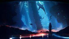 anime and aquarium εικόνα