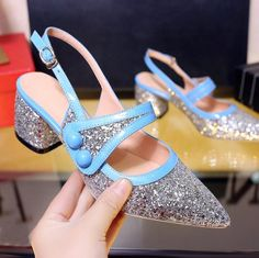 Cheap heels women, Buy Quality womens low heel pumps directly from China shoes blue Suppliers: Summer 2017 Sexy Pointed Toe Womens Low Heel Pumps Zapatillas De Mujer Bling Shoes Chunky Heel Women'S Shoes Blue&Pink