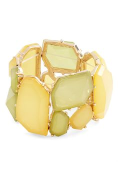 Found Looking Fabulous Bracelet - Yellow, Green, Party, Statement, Solid